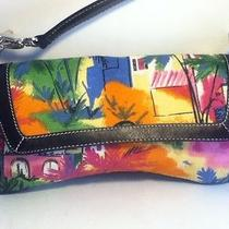 The Sak Pink Label Multi-Color Woven Village Scene Small Bag Purse Handbag  Photo