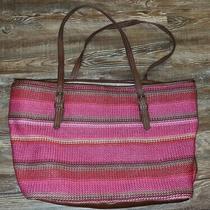 The Sak Pink Striped Crochet Shoulder Bag Photo