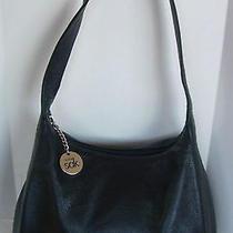 The Sak Pure Black Leather Shoulder Purse/bag Photo