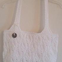 The Sak Pure White Knit Crochet Handbag  Photo