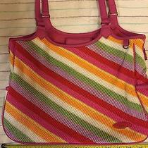The Sak Purse Bright Colorful Knitted Pattern Shoulder Bag  Awesome Photo
