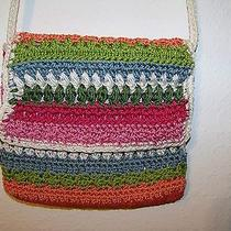 The Sak Purse Bright Colors Cross Body Crochet Rope Zippered Flap Perfect Photo