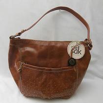 The Sak Purse / Handbag-Tobacco Colored Leather-Antique Brass Colored Hardware Photo