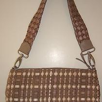 The Sak Purse Trendy Hobo Woven Zip Up Shoulder Bag Satchel Handbag Photo