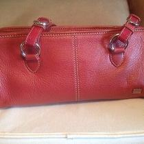 The Sak Red Handbag the Sak Red Purse Leather Photo