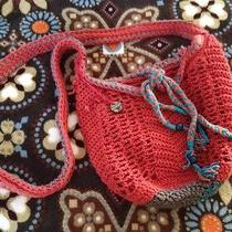 The Sak Roots Small to Medium Hobo Bag Paprika Orange With Turquoise Accents Photo