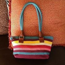 The Sak Sakroots Bright Colors Woven Crocheted Handbag Purse Photo