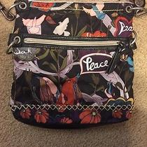 The Sak Sakroots Tablet Crossbody Bag in River Peace Print- Used Twice Photo
