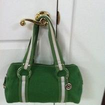The Sak Satchel Green Knit Photo