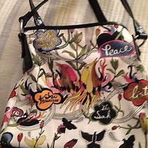 The Sak Satchel Handbag Canvas Bird Peace Design Photo