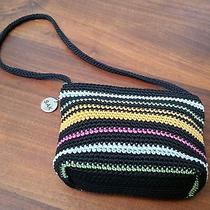 The Sak Shoulder Bag. Small. Black With Greenorangebluepink. Nice & New  Photo