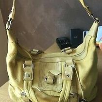 The Sak Silverlake -Large Yellow Pebble Leather Handbag Conv. Bag Messenger Hobo Photo