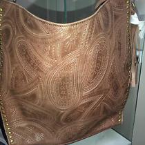 The Sak Silverlake Leather Hobo 108838 Bandana Embossed Msrp 199 Photo