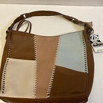 The Sak Silverlake Leather Hobo Tobacco Whipstitch Patch/sliver Photo