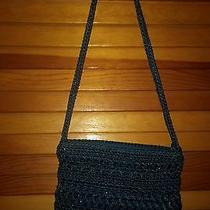 The Sak Small Crochet Blue Purse Pre Owned Photo