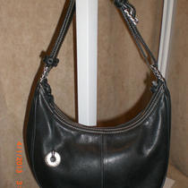 The Sak Small Hobo Shoulder Hand Bag Purse Smooth Black Leather Cute Styleworn Photo