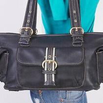 The Sak Small to Med Black Nylon Leather Shoulder Hobo Tote Satchel Purse Bag Photo