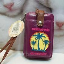 The Sak Smart Phone or Iphone Holder Wristlet Palms Leather California Dreamin' Photo