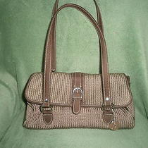 The Sak Tan Crochet Two Straped Handbag Purse Photo