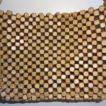 The Sak Tan Wood Beaded Handbag Photo