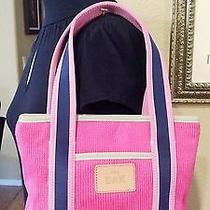 The Sak Tote Bag Small Pink and Navy Blue New Photo