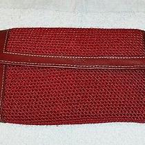 The Sak Wallet ...red Knit With Red Trim Photo