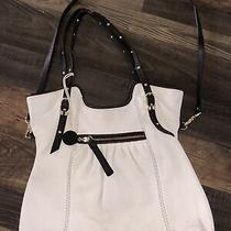 The Sak White and Brown Leather Crossbody Purse/shoulder/hand Bag Photo