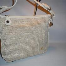The Sak White and Gold Knit & Microfiber Shoulder Bag Handbag Mint Photo