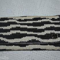 The Sak Women's Wallet Crocheted Black and White Wrist Handle Checkbook Size Photo