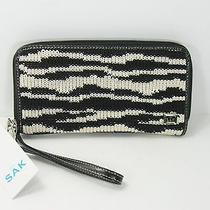 The Sak Women's Wallet New With Tags Crocheted Black and White Wrist Handle Photo