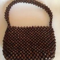 The Sak Wooden Beaded Handbag Purse Wood  Photo