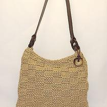 The Sak Woven Shoulder Bag Handbag Purse Photo
