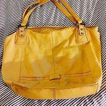 The Sak Yellow Leather Shoulder Bag Handbag Purse  Photo