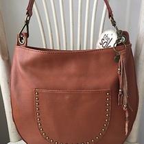 The Sak Zinnia Large Hobo Bag Cognac Pebble Leather With Tasseled Key Ring Nwt Photo