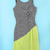 The Seafarer Knot Jersey Stripe Yellow Coloblock Dress L & Anthropologie Gift  Photo