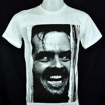 The Shining Jack Nicholson White T-Shirt Indy Punk Rock 100% Cotton Tee Size L Photo