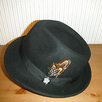 the Standard New Mens Christy's Wool Felt  Fedora Hat Black Medium Photo