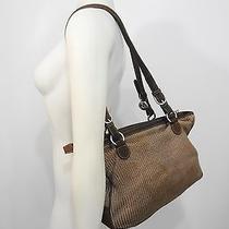 The Tan Crochet Nylon Shoulder Bag Handbag Purse Photo