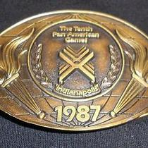 The Tenth Pan American Games Indianapolis 1987 Belt Buckle Photo
