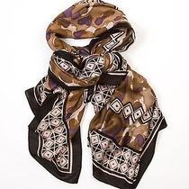 Theodora & Callum Black Multi Bobcat Wearable Art Scarf Pareo Wrap Photo
