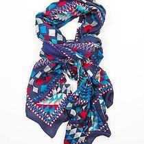 Theodora & Callum Blue Multi Adirondack Wearable Art Scarf  Pareo Wrap Photo