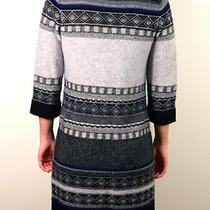 Theory 100% Cashmere Size S/p Tunic Sweater Geometric Long Sweater Small Petite Photo