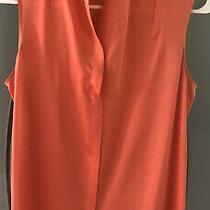 Theory 100% Silk Peach/orange Beautiful v-Neck Tank Size S Photo