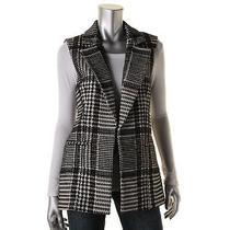 Theory 6903 Womens Eldora Cl Black-Ivory Wool Blend Pattern Vest 12 Bhfo Photo