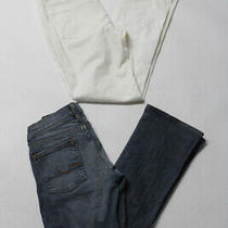 Theory 7 for All Mankind Womens Jeans White Blue Cotton Size 8 27 Lot 2 Photo
