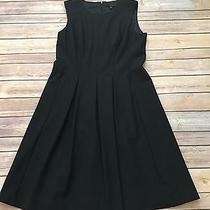 Theory Adison Black Wool Blend Sleeveless Wear to Work Dress 4 90j Photo