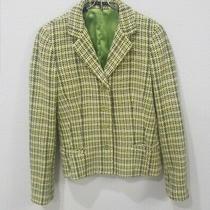 Theory Barrie Blazer Tweed Multicolor Green Grey  Wool/angora Size 6 Blazer Photo