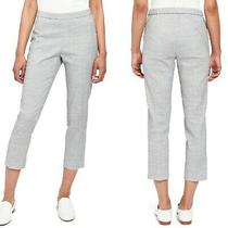Theory Basic Pull on Cl Women's Pants Size 6 Bluet Melange Eco Sharkskin Trouser Photo