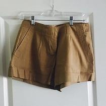 Theory Beige Linen Shorts Photo