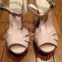Theory Bita Leather and Wood Heels Size 37 Photo